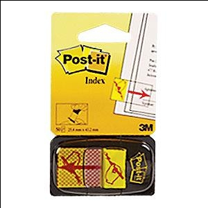"Indeksi 3M Post-it 680-31 ""Paraksts"" 25x43mm/50l."