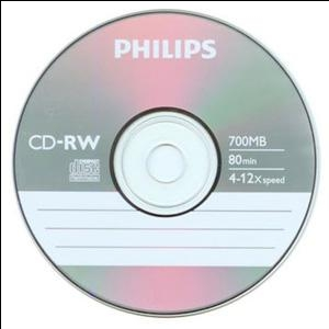 CD-RW 80min/700Mb x12 (slim) Philips