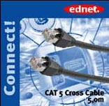 Kabelis CAT 5e/Cross 5m. Ednet 1Gigabit