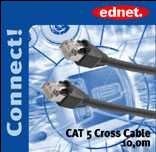 Kabelis CAT 5e/Cross 10m 1Gigabit