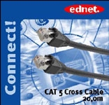 Kabelis CAT 5e/Cross 20m 1Gigabit