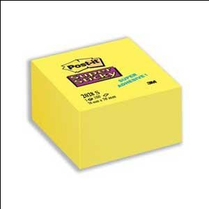 Līmlapiņu kubs 3M Post-it Super Sticky 76x76mm/350l.dzelten